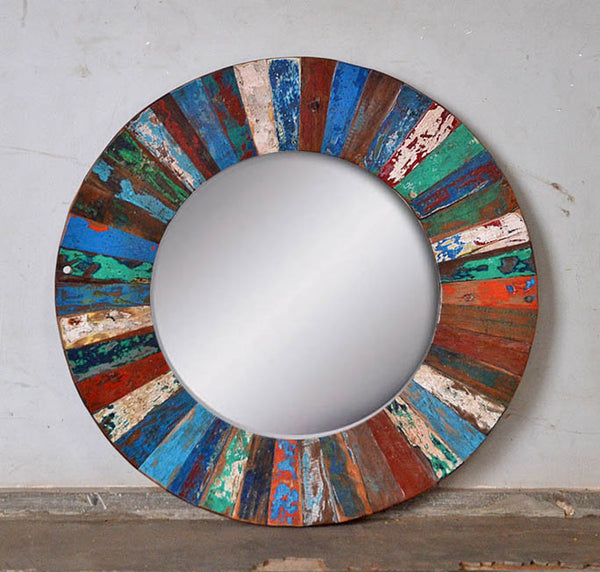 PATCHWORK MIRROR ROUND - #272