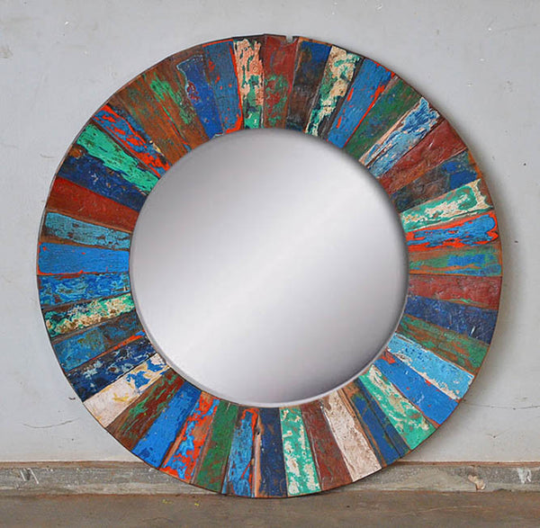 PATCHWORK MIRROR ROUND - #277