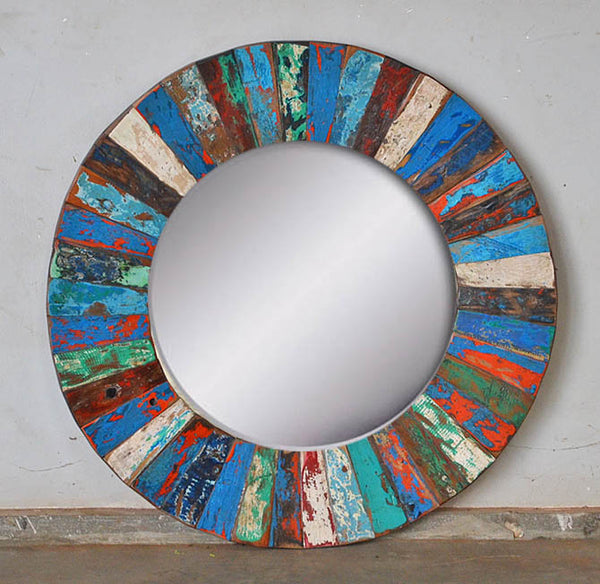 PATCHWORK MIRROR ROUND - #278