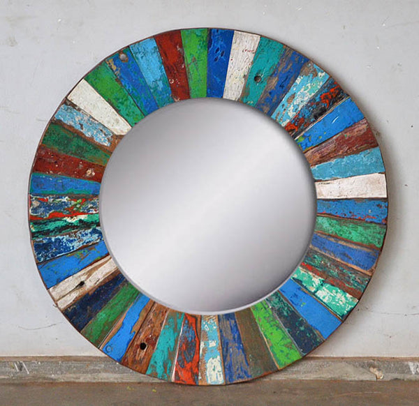 PATCHWORK MIRROR ROUND - #279