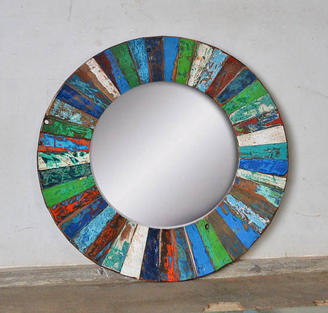 PATCHWORK MIRROR ROUND - #252