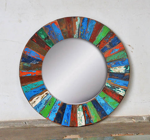 PATCHWORK MIRROR ROUND - #253
