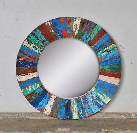 PATCHWORK MIRROR ROUND - #254