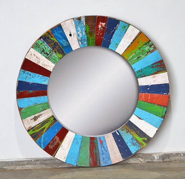 PATCHWORK MIRROR ROUND - #287