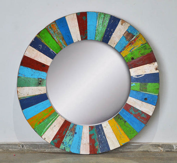 PATCHWORK MIRROR ROUND - #306