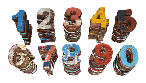 Reclaimed Wood Numbers