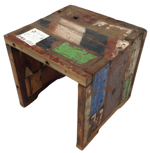 Patchwork Deco Stool - #101