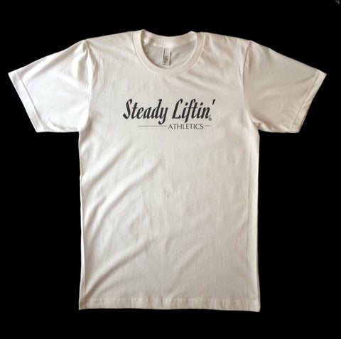 CURSIVE DESIGN WHITE T-SHIRT