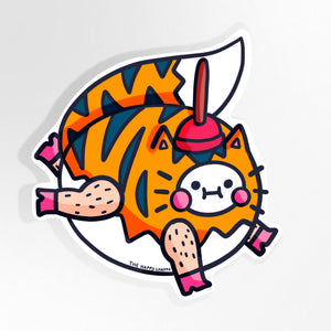 Tiger Fox Unicorn Large Vinyl Sticker
