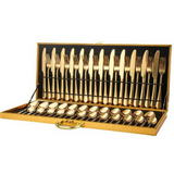 Hot Sale Set 48 Pcs- Stainless Steel Cutlery Set with Wooden Case