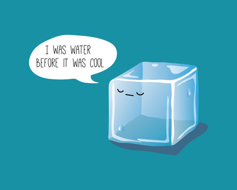 Hipster Ice Cube Print