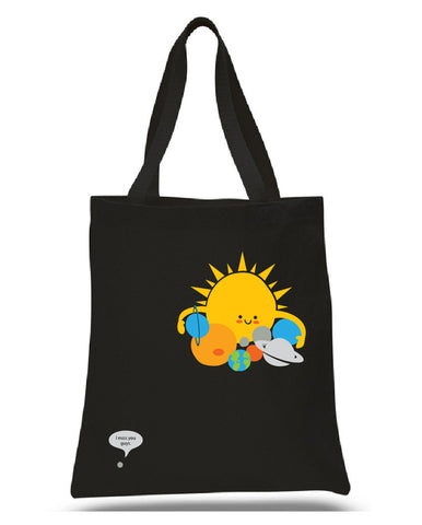 Hugs are for Planets Only tote