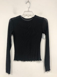 Mesh Long Sleeve Top Size Small