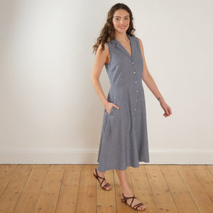 Bibico Aubrey Swing Dress Blue Stripe