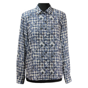 ERFO Spot Print Shirt Denim Blue