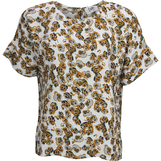 I Say Lana Short Sleeve Blouse Daria Flower