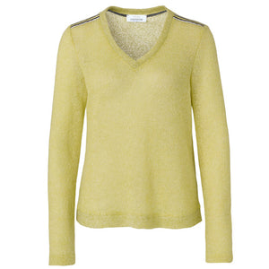Just White Fine Knit Sweater Citrus Lime