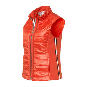 Just White Stretch Side Gilet Red