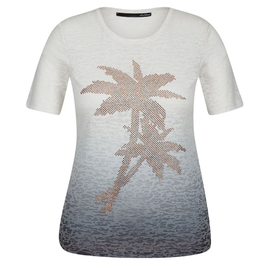 Le Comte Palm T-Shirt Blue Sea