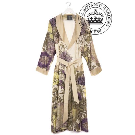 One Hundred Stars Kew Thistle Purple Dressing Gown