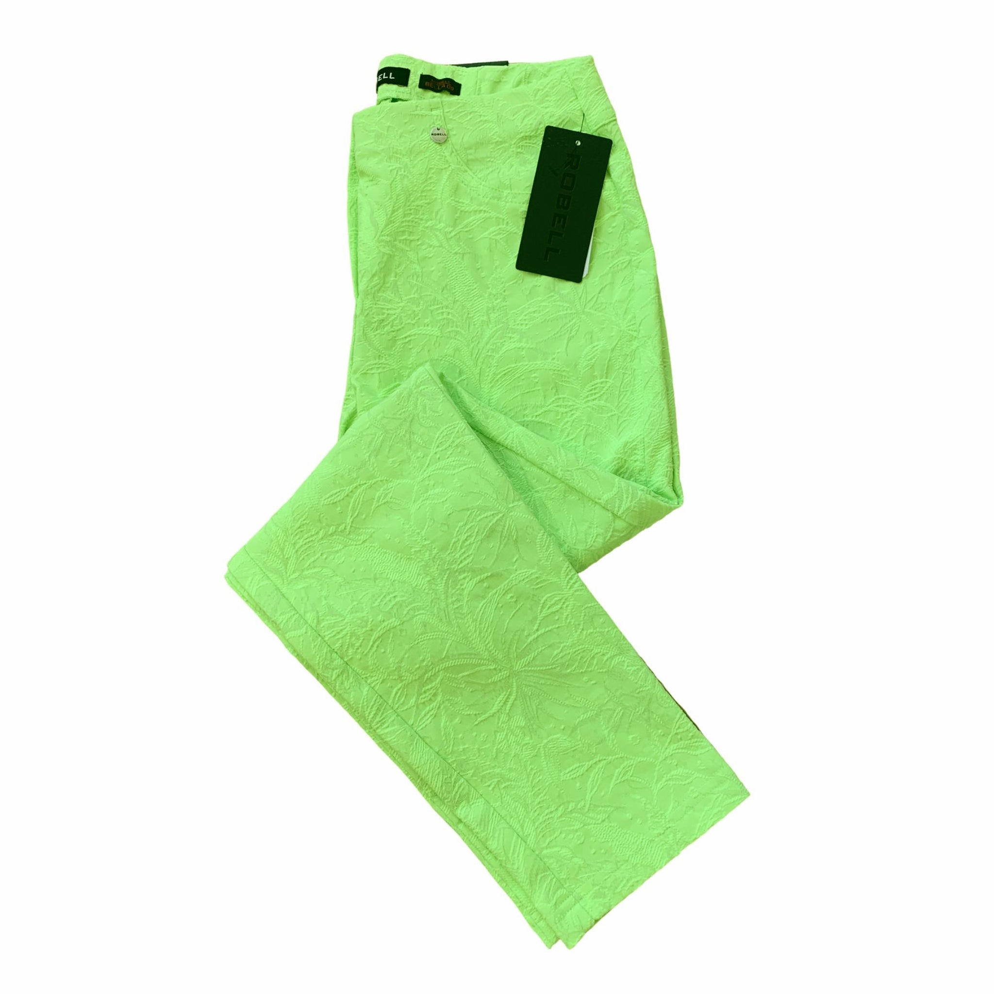 Robell Bella 09 Trousers Lime Jacquard