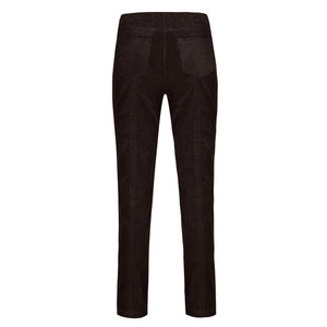 Robell Bella 73cm Full Length Cord Trouser Chocolate