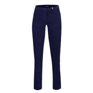 Robell Bella 73cm Full Length Cord Trouser Navy