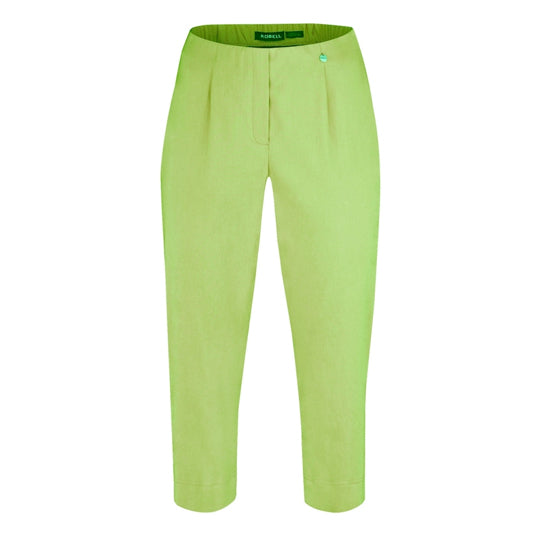 Robell Marie 07 Cropped Trousers Lime