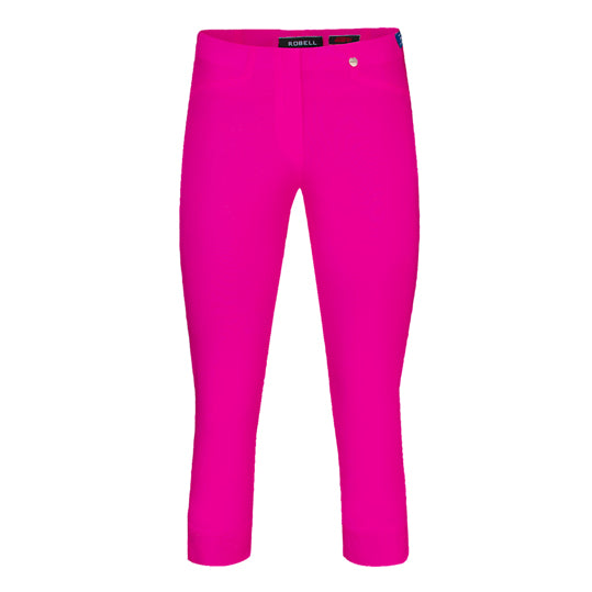 Robell Rose 07 Cropped Trousers Fuchsia