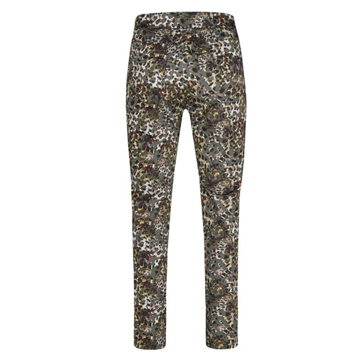 Robell Rose Trousers Khaki Animal Print