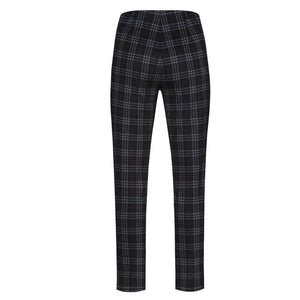 Robell Rose Trousers Black Check