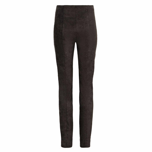 Robell Rose Trousers Faux Suede Black