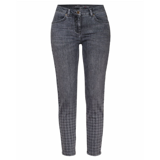 TONI Perfect Shape Skinny Jeans Grey Houndstooth