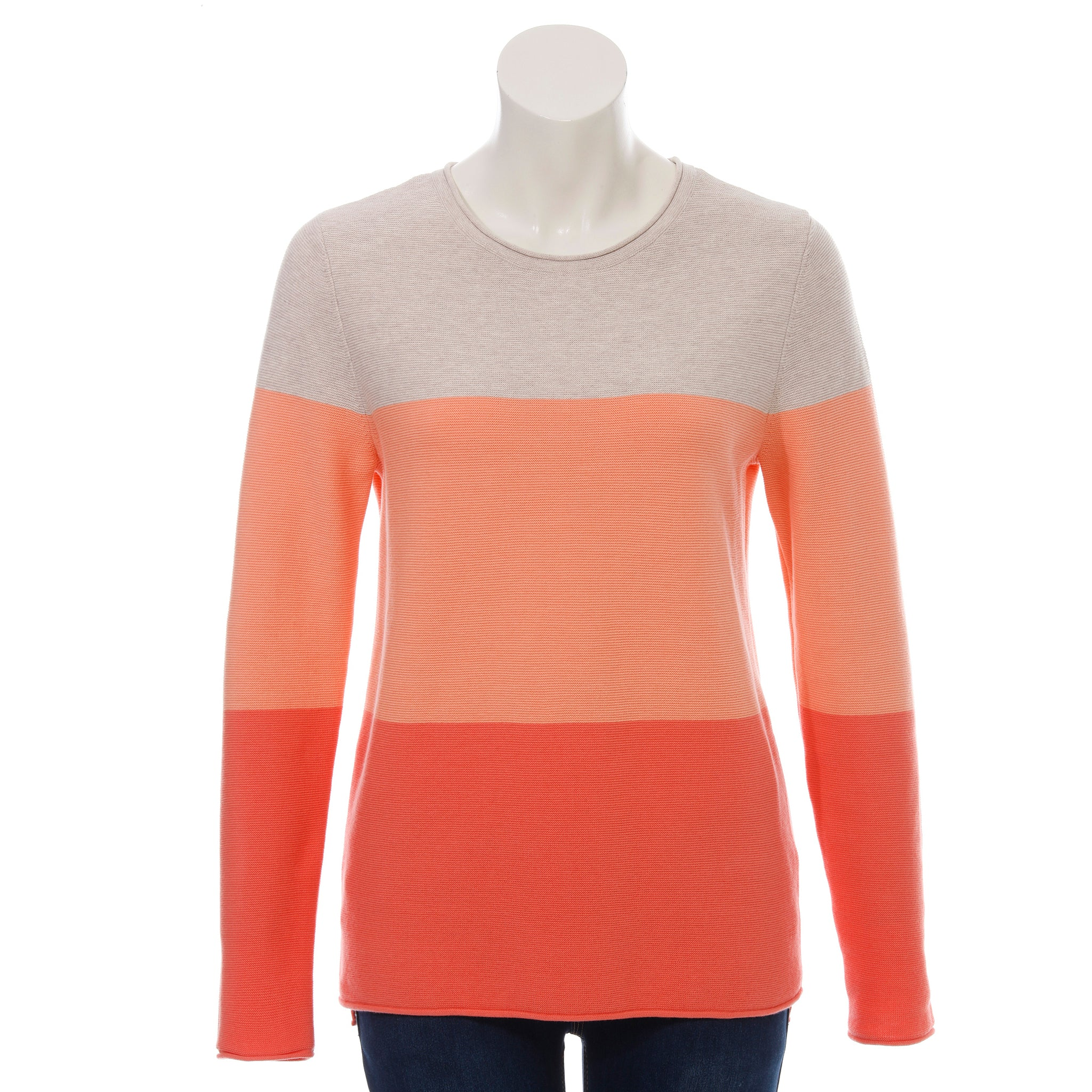 Via Appia Colour Block Sweater Coral