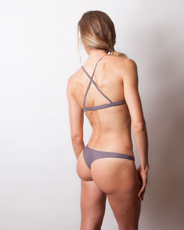 purple grey cheeky seamless bikini bottom