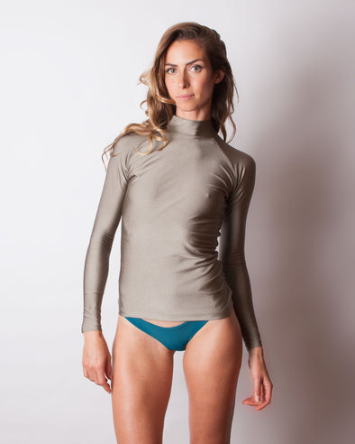 Shiny long sleeve rashguard Honubelle