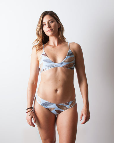 surf herringbone adjustable halter bikini top
