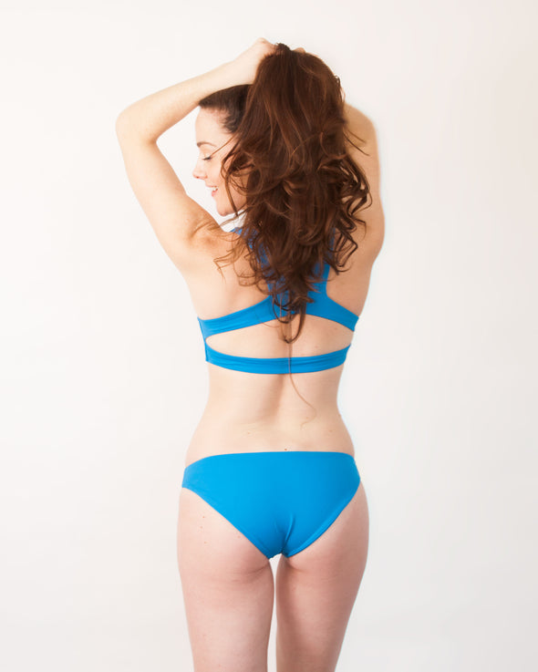 sky blue full coverage bikini bottom