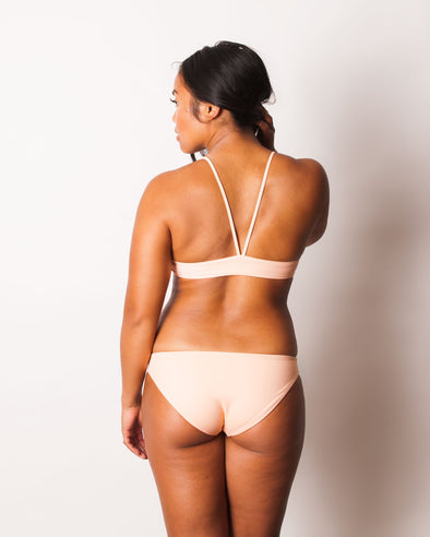 light pink full coverage bikini bottom