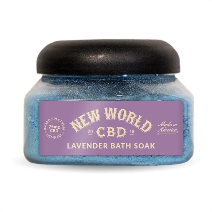 CBD bath bubble bath levender