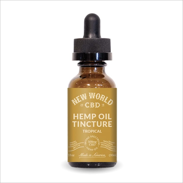 New World CBD Oil Tincture Tropical Flavor