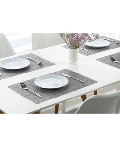 "Dainty Home Reversible Metallic Lacey Place Mats  Set of 4 12"" x 18"" Placemats"