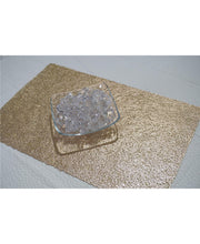"Load image into Gallery viewer, Dainty Home Reversible Metallic Lacey Place Mats  Set of 4 12"" x 18"" Placemats"