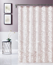 Load image into Gallery viewer, Dainty Home Rita Chenille Embroidered Shower Curtain