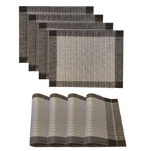Load image into Gallery viewer, Dainty Home Palermo Rectangle 4 Piece Vinyl Placemat Set (Set of 4)
