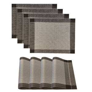 Dainty Home Palermo Rectangle 4 Piece Vinyl Placemat Set (Set of 4)