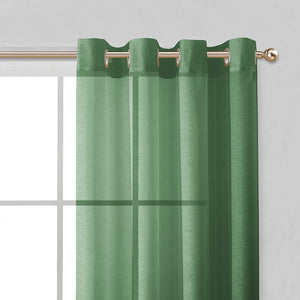"Dainty Home Malibu Textured Semi-Sheer Grommet Top Curtain Panel Pair, 54"" x 84"" Set of 4"