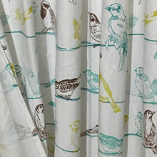 Load image into Gallery viewer, Dainty Home 100% Cotton Birds Fabric Shower Curtain, 70'' W x 72'' L