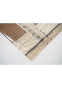 Dainty Home Sidewalks Reversible Metallic Printed Set of 4 Placemats
