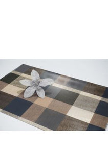 Dainty Home Plaid Reversible Metallic Printed Set of 4 Placemats